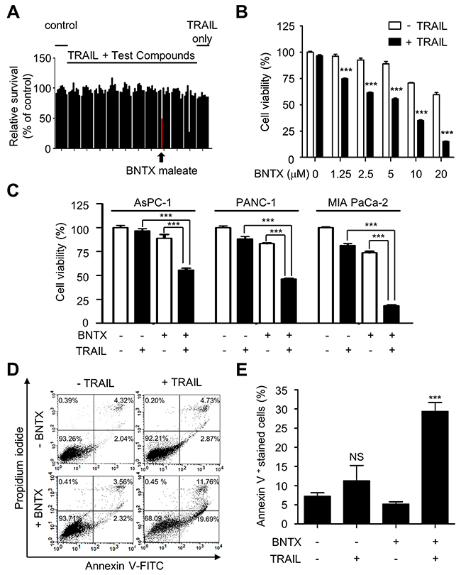 BNTX sensitizes human pancreatic cancer cells to TRAIL-induced apoptosis.
