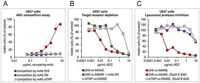 Specificity of the cytotoxic effect of 2h9-vc-MMAE, and importance of cathepsin-mediated linker cleavage.