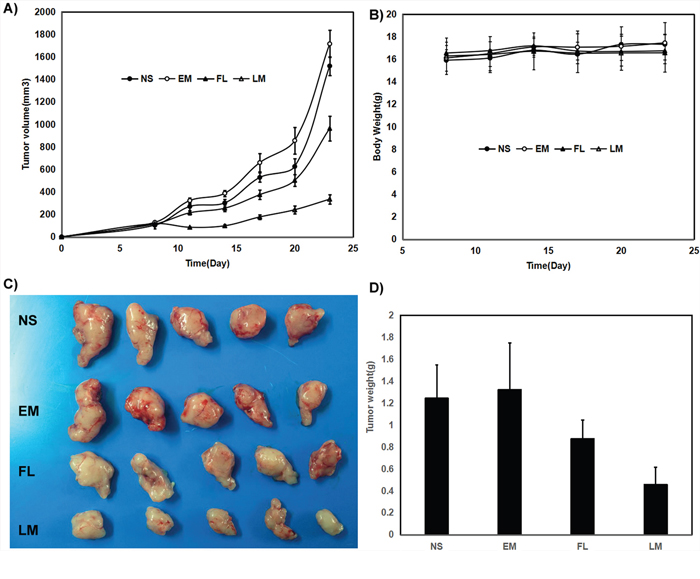 Anti rat glioma C6 effect of luteolin and Luteolin/MPEG-PCL micelles in nude mouse model.
