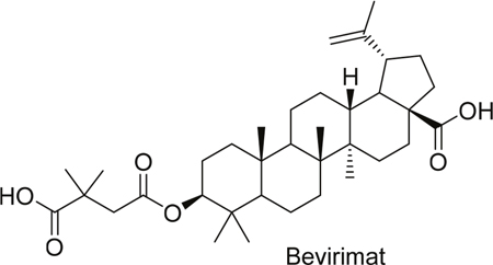 Structure of bevirimat.