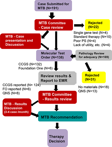 Overview of workflow for molecular tumor board (MTB).