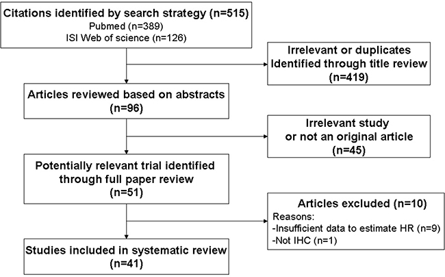 Schemata of the systematic review.