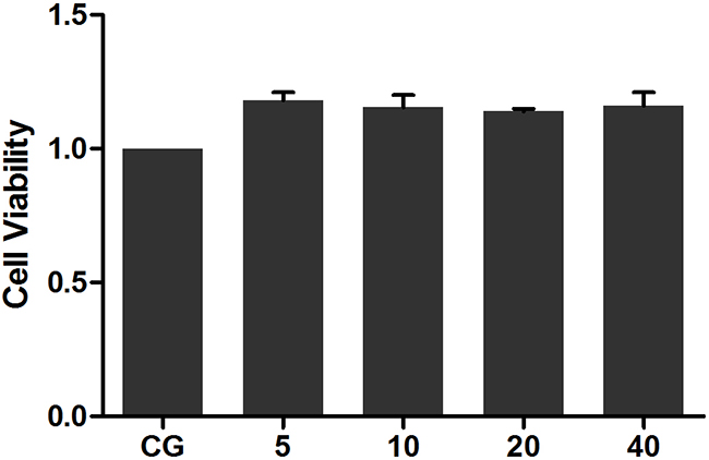 Effects of Ori on the viability of RAW 264.7 cells.
