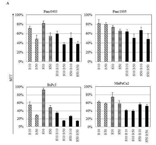 IRE1α inhibitor STF and proteasome inhibitor bortezomib synergistically inhibited the