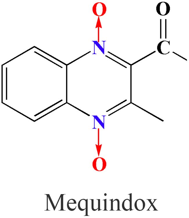 Chemical structure of mequindox (MEQ).