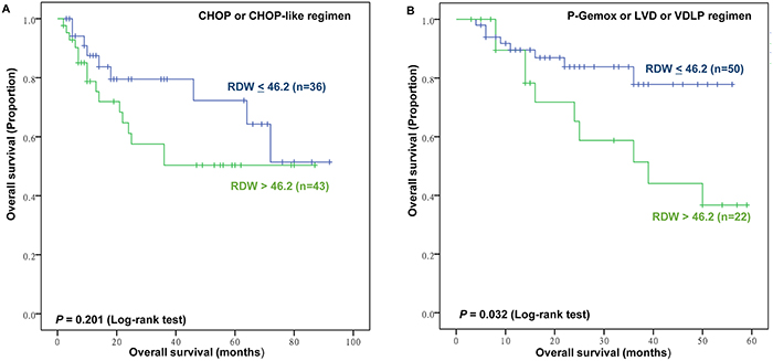Subgroup analysis for prognostic value of red blood cell distribution width (RDW) for overall survival (OS).