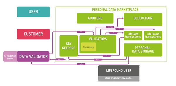 The workflow example for marketplace data validators (DV).