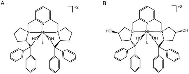 ChemDraw representations of Ni-SOD mimics.