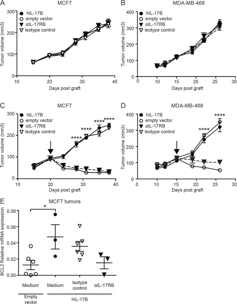IL-17B promotes resistance to paclitaxel in vivo.