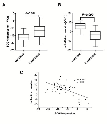 Blood SCGN acts as a predictive marker of chemosensitivity in SCLC and inversely correlates with miR-494.