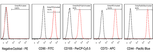 The expression of PDMSC-specific CD cell surface markers was analyzed by flow cytometry.
