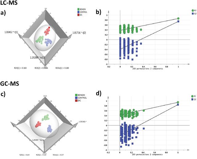 Tissue metabolomics multivariate analysis.