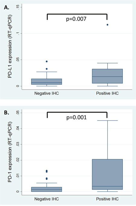 RT-qPCR results correlated with IHC findings.
