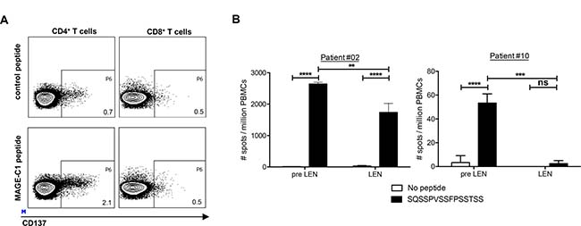 Lenalidomide maintenance therapy does not enhance MM-specific CD4+ T-cell responses.