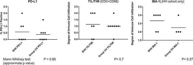 PD-L1 expression and immune infiltrates by subgroup.