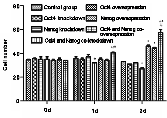 Modulation of Oct-4 and Nanog expression alters the invasiveness of cancer stem cells (CSC) in vitro.