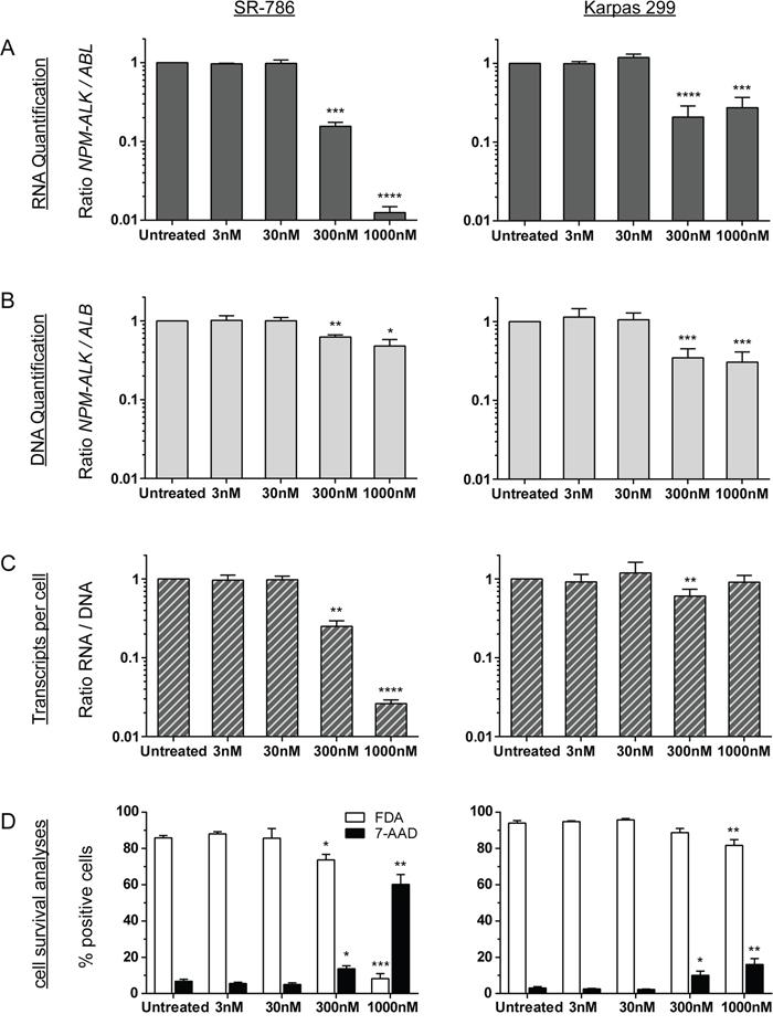 NPM-ALK quantification after crizotinib treatment in vitro.