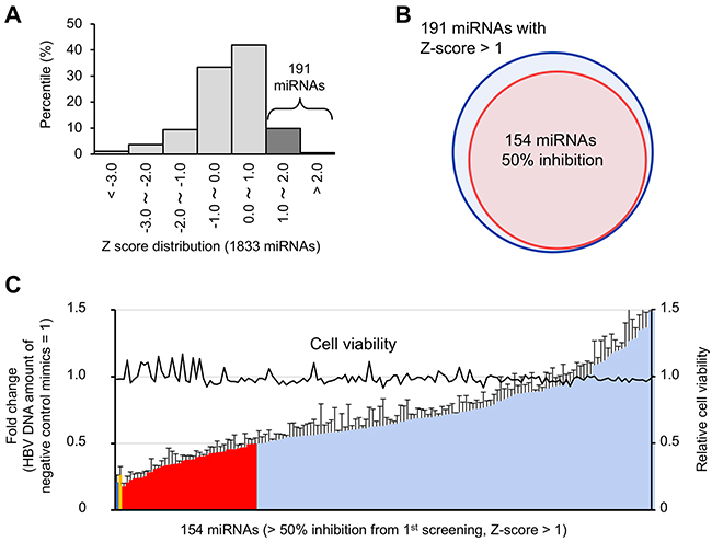 Validation of candidate antiviral miRNAs.