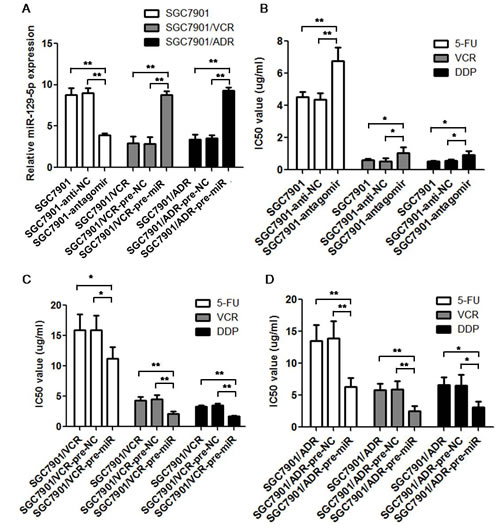 MiR-129-5p modulate multi-drug resistance in gastric cancer cell lines.
