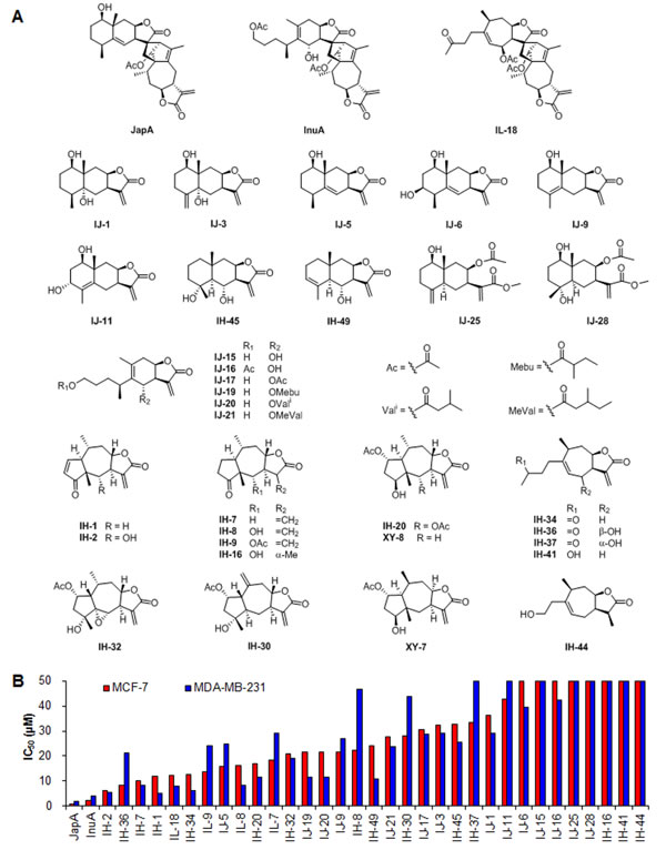 Identification of JapA and its analogs as new MDM2 inhibitors.