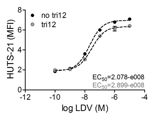 VLA-4 expressed on tri12 CLL cells is not in a pre-activated conformation.
