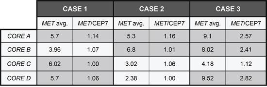 MET FISH discordance among different cores in FISH positive cases.