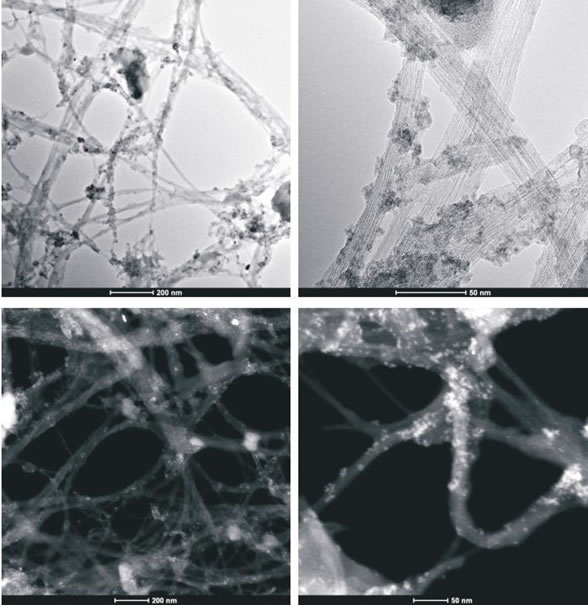 Figure 3A: High-resolution transmission electron microscopy and z-TEM images of the A0-o-C2-phys sample.