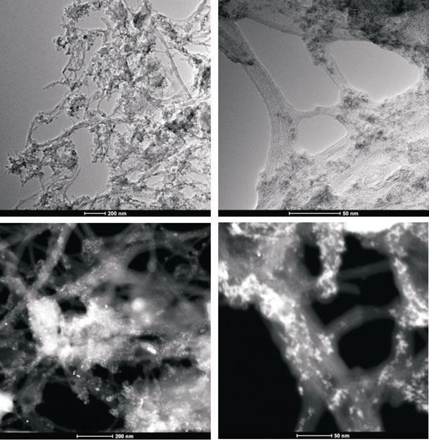Figure 3B: High-resolution transmission electron microscopy and z-TEM images of the A0-o-C3-phys sample.