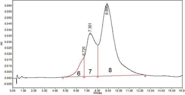 Hydrophobic interaction chromatography of IMMU-132.