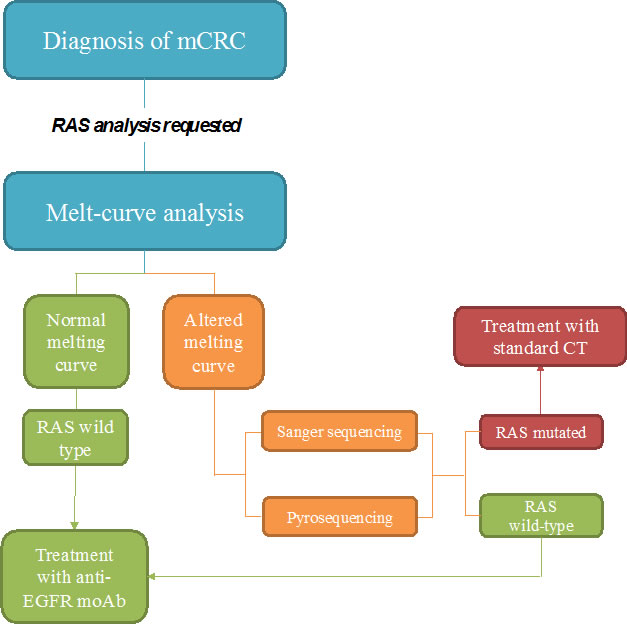 Proposed flow-chart of RAS analysis with Melting curve test.