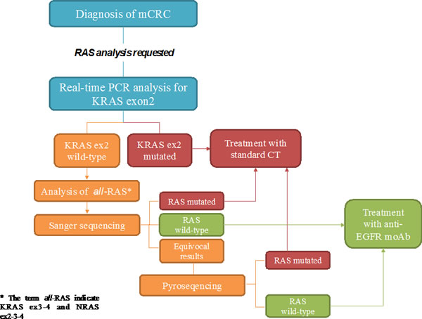 Proposed flow-chart of RAS analysis with the combination of different techniques.