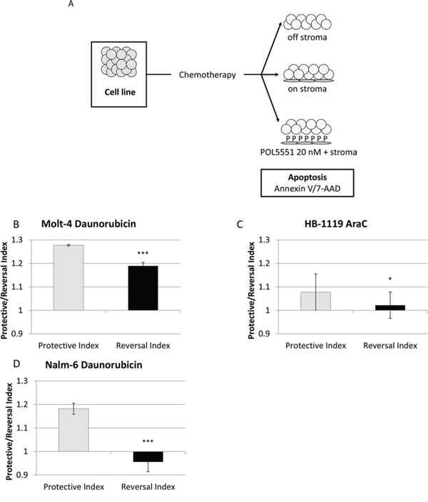 POL5551 enhances sensitivity to chemotherapy in a stromal co-culture model.