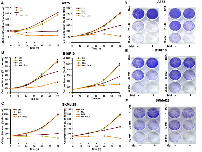 Inhibition of complex I sensitizes cancer cells to LDH and PDK1 inhibitors oxamate and DCA.
