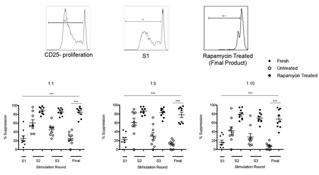 Assessement of Treg suppressive function.