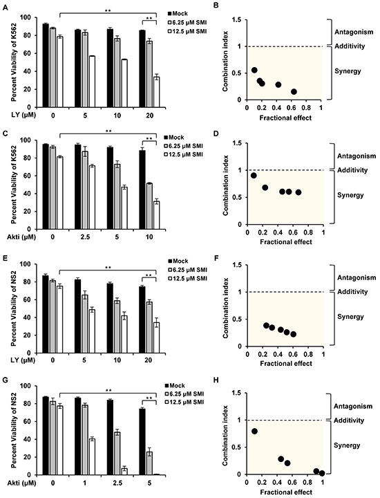 Combined inhibition of Pim and PI3K/Akt/mTOR pathways induces synergistic apoptosis.