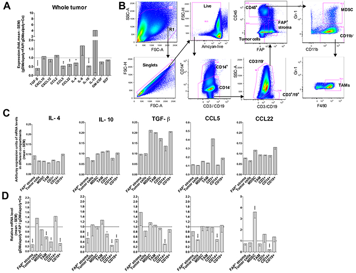 Depleting FAP+ stromal cells changes the TME's cytokine and chemokine profile.