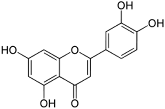 The chemical structure of luteolin.