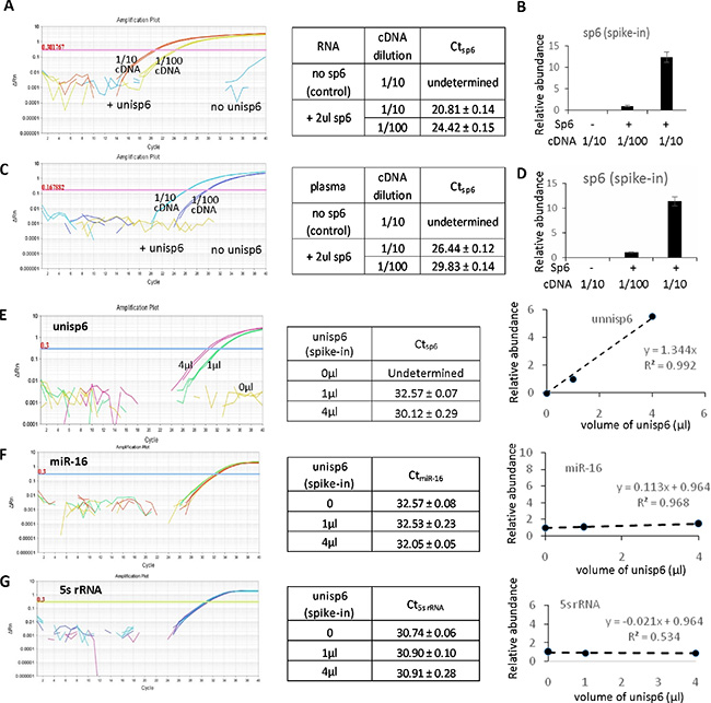 High specificity of the plasma-based direct quantification of circulating miRNAs.