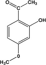 The chemical structure of paeonol.