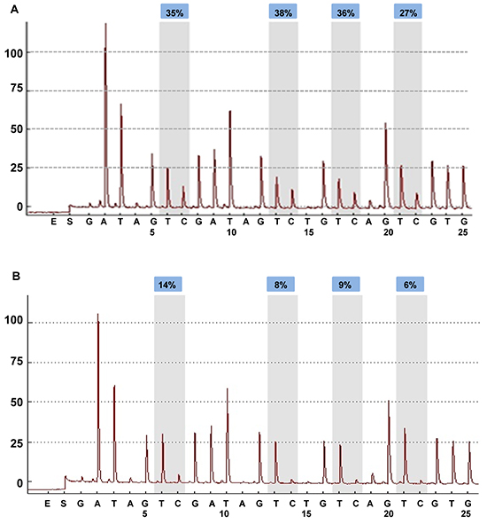 BRCA1 promoter methylation level in breast cancers quantified by pyrosequencing.