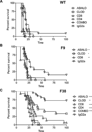 A role for CAR+ lymphoid and myeloid cells in tumor rejection in F38 mice.
