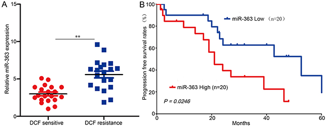 miR-363 induces DCF resistance in gastric cancer patients.