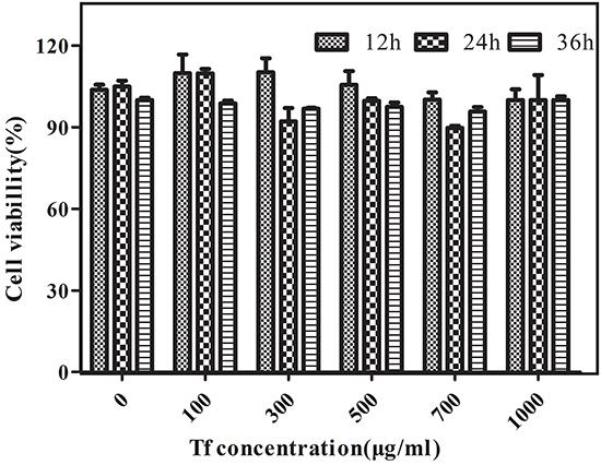 In vitro cytotoxicity of Cy5.5-Tf-DTPA-Gd.