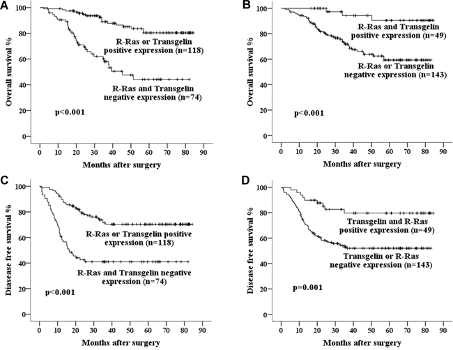 Kaplan–Meier curves of 5-year OS in patients with